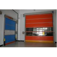 China Industrial automatic colorful pvc fabric door, high speed pvc interior door on sale