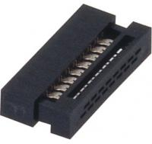 Best 1.27mm IDC socket  Connector 16 Pin PBT black  30%GF UL94V-0  ROHS wholesale