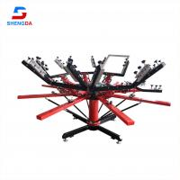 China High quality Economical manual 8 color 8 station rotary t shirt silk screen printing machine for sale on sale