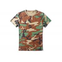Best Woodalnd Cool Tactical T Shirts Elastic 100% Cotton For Outdoor Sports wholesale