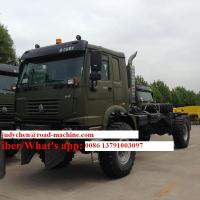 Buy cheap Two Axle Prime Mover Truck , 4 x 4 Off-Road  Driving 336 Horse Power 10 Speeds Transmission from wholesalers