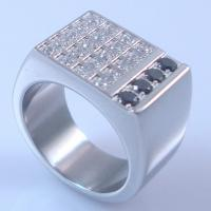 China 2013 fashion jewelry ring wedding ring men's newest diamond ring on sale