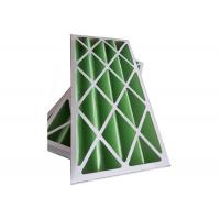 Best Rigid Pleated Panel Air Filters , Clean Room Pre Filter G1 - G4 With Cardboard Frame wholesale