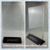 Best Hotel Supplies A4 A5 A6 Size Acrylic Upright Menu Holder with Logo Printing wholesale