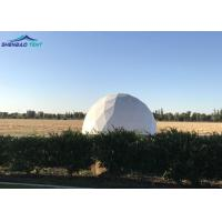 Best Military Geo Dome Tent White Large PVC Cover With Aluminum Frame wholesale