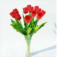 Best Wholesale Artificial Flowers Red Tulips wholesale