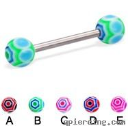 China Titanium industrial piercing jewelry personalized tongue rings on sale