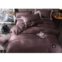 5 Star Jacquard Striped Hotel Quality Bed Linen Covers Queen size 100% Cotton Coffee Color