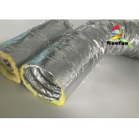 Best Round 10 Inch HVAC Duct Insulation Wrap , Aluminum Foil Insulated Ventilation Metal Duct Insulation Wrap wholesale