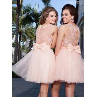 Best Short Long Homecoming Dresses Short A Line Pink Tulle Beading Gowns wholesale