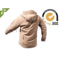 Best Khaki Softshell Military Jacket , Police Tactical Jacket 100% Nylon For Outdoor Activities wholesale