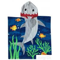 Best 60 X 120cm Children ' S Poncho Beach Towels Soft Feeling With Cotton Material wholesale