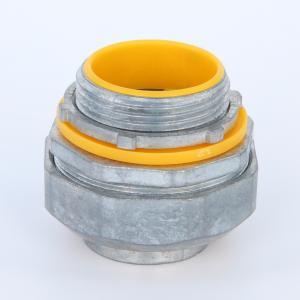 "Best 90 Degree Liquid Tight Flelxibele Conduit Connector Zinc Die Casting Yellow Blue Cap UL listed 4"" wholesale"