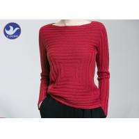 Best Boat Neck Womens Knit Pullover Sweater Square Knitting Pattern Clothing wholesale