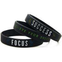 Buy cheap exported products Debossed logo 170*12*2mm custom silicone wristband bracelet from wholesalers