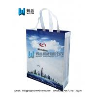 Best Custom Wholesale Hot Sale Reusable non woven gift bag with logo /white handle2.5*40cm wholesale