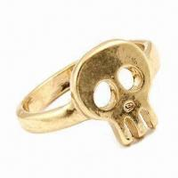 Best Skull Design Jewelry Ring, Made of Alloy, Available in Various Plating Colors wholesale
