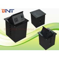Buy cheap Aluminum Alloy Smart Office Desktop Hydraulic Pop Up Power Socket Box US Standard product