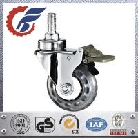 Best Swivel medical caster with total locking brake,M12 threaded stem mounted. wholesale