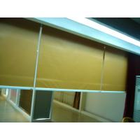 China Yellow Electric Fabric Roller Blind, Motorized Roller Shades on sale