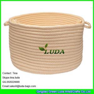 LUDA small round storage bin handmade hanging storage basket