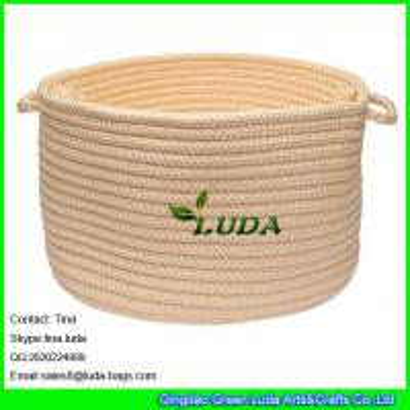 Cheap LUDA small round storage bin handmade hanging storage basket for sale