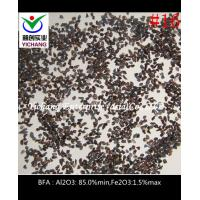 China High Density Brown Aluminum Oxide , Brown Fused Aluminum Oxide Grit on sale