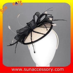 Best 0909 Elegant design  sinamay fascinators hats for ladies  ,Fancy Sinamay fascinator  from Sun Accessory wholesale
