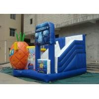 Best Outdoor Blow Up Jumping Castle , Inflatable Bounce House Cartoon Decoration wholesale