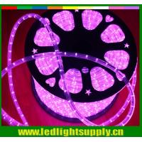 Best waterproof mini led lights 10mm 2 wire pink christmas rope light wholesale