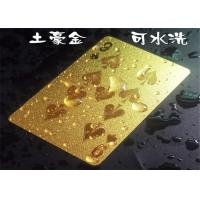 Best Personalized Dubai Playing Cards Colorful Cool Gold Plated Poker Cards With Gift Box wholesale