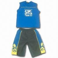 China Children's Suits with T-shirt and Pants, Made of 100% Cotton on sale