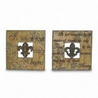 Best Square Wall Plaques with Pierced FDL and Religious Wording Design wholesale