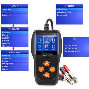 China BA101 KW600 Car Battery Tester CCA 12v Varta Lead Acid Lifetime Free Software on sale