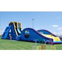 China 36ft Super Drop Kick Huge Water Slide , Outdoor Big Inflatable Air Bag wholesale