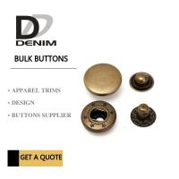 Best Anti Brass Spring Snap Socket Buttons 4 - Parts For Jacket Bulk Trims Available Sizes wholesale