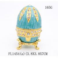 Best Russian faberge Easter egg trinket box decorative  faberge Easter egg jewelry box metal gift wholesale