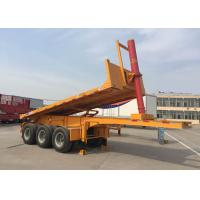 China Hydraulic Cylinder Tipper Semi Trailer Dump Truck  For 20 Feet Or 40 Feets Container on sale