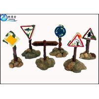 Best Colorful Guidepost  Resin Fish Aquarium Ornaments , Commercial Fish Tank Sign Decorations wholesale