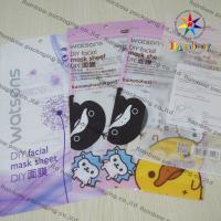 China DIY Facial Mask Sheet Of Cosmetic Plastic Bag With Ziplock on sale