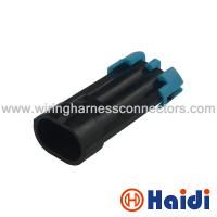 Buy cheap Male Sealed  Electrical Automotive Wiring Harness Connectors 2 Pin Plug 12162000 product
