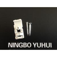 China Fiber Optic Accessories ABS Drop Wire Cable Clip With Concrete Nail 2.5*20mm on sale