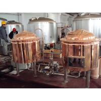 Best Automatic Red Copper Brewing Equipment Small Scale Brewery For Pub Draft wholesale