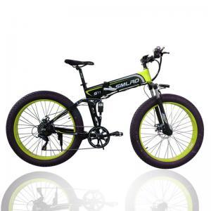 China Folding Electric Snow Bike , 26 Inch Electric Fat Tire Mountain Bike Aluminum on sale