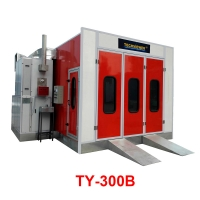 China Car Baking Oven With Italy Brand Diesel Burner Automotive Spray Booth on sale