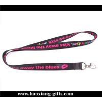 China high quality 20*900mm sublimation printed logo lanyard with metal buckle for sale on sale
