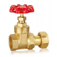 China Forged Brass Gate Valve DN32 DN40 CW617 Water Control Valve With Thread WRAS on sale
