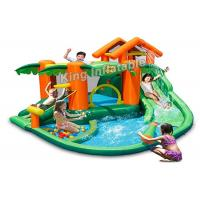 China Tropical Play Center Jump Castle / Inflatable Water Slide For Kids In Summer on sale