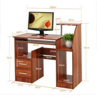 Modern Simple Wood Office Desks Computer Table Size 100 * 49 * 92cm DX