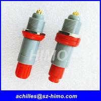 hot-sale quick release male and female single key 1P series 7 pin Lemo medical connector with red color